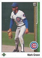 1989 Topps Mark Grace Chicago Cubs 465 Rookie