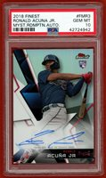 2018 FINEST MYST REDEMPTION AUTO #FMR3 RONALD ACUNA JR. RC PSA 10 GEM MINT 93/99