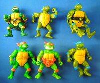 Vintage Lot of 6 Teenage Mutant Ninja Turtles Toys Leonardo Raphael Michelangelo
