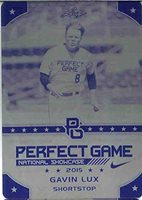 GAVIN LUX 2015 Leaf Perfect Game All-American SHOWCASE Rookie Press Plate 1/1