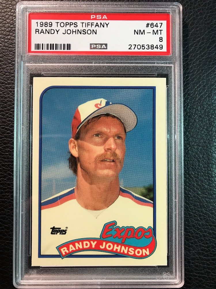 1989 topps traded #57t RANDY JOHNSON seattle mariners rookie card PSA 8 Graded Card