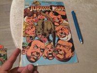 SPIELBERG JURASSIC PARK TURKISH COMIC ISSUE: 3 1990s ART !