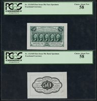 FR1313SP 50¢ 1ST ISSUE FRACTIONAL FACE SPECIMEN PCGS 58 CHOICE ABOUT NEW WLM4545