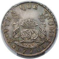1770-PTS JR Bolivia 4R Charles III TypeAU55 [PCGS]