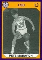 9c746aa0c61 Pete Maravich Basketball Card (LSU) 1990 Collegiate Collection  1