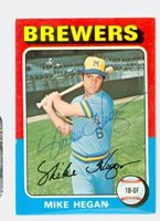 Mike Hegan AUTOGRAPH d.13 1975 Topps #99 Milwaukee Brewers