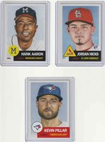 2018 Topps LIving Set ~Week16~Hank Aaron #46~Jordan Hicks RC #47~Kevin Pillar#48