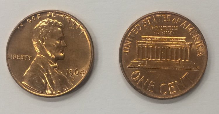 1964-D BU Uncirculated Lincoln Memorial Cent