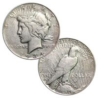 1922-1935 - 90% Silver Peace Dollar Circulated
