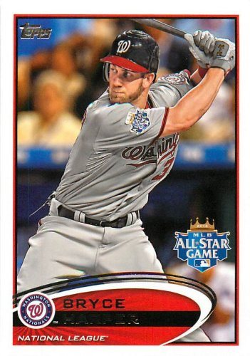 2012 Topps Update Us 299 Bryce Harper Rc Washington Nationals Rc Rookie Card All Star Baseball Cards
