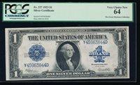 Fr. 237 1923 $1 Silver Certificate PCGS 64 Y45983844D