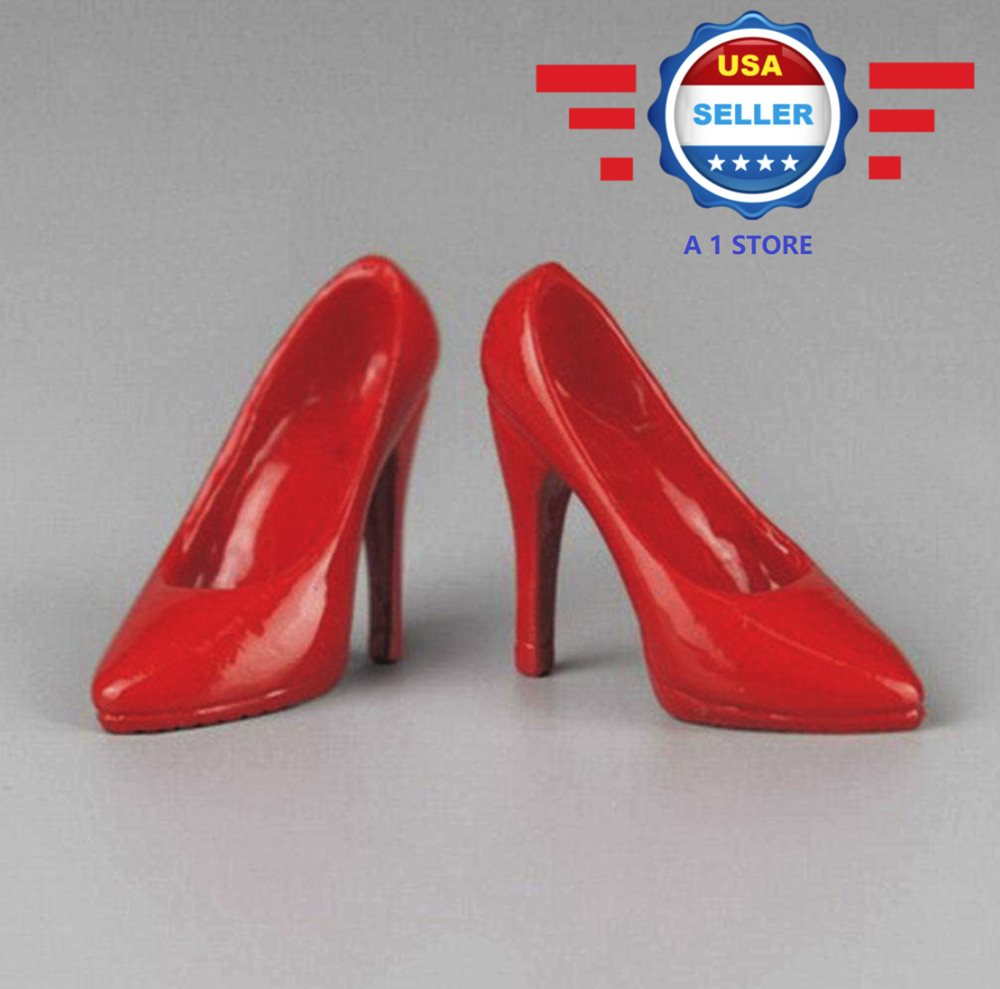 ZY Toys 1//6 scale RED High Heel Pumps Shoes for 12/'/' female figure PHICEN