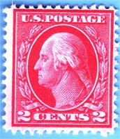 Scott# 406 2c- Washington (1912) SLWMRK pf 12 MINT HR F - VF