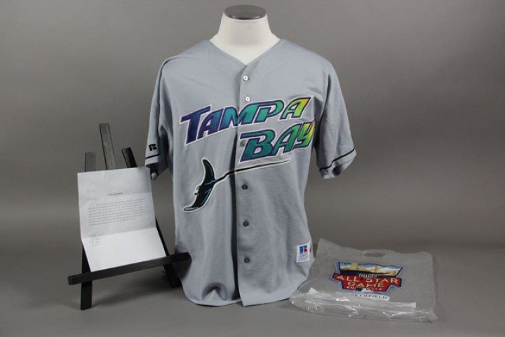 sale retailer 834be 22c0f Dwight Gooden Game Used/Worn Devil Rays Jersey