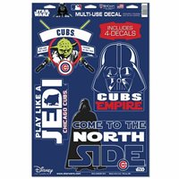 CHICAGO CUBS STAR WARS YODA & VADER LAPTOP MULTI USE REUSABLE DECALS NEW
