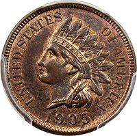 1905 P Indian Cents Cent MS64 PCGS RB