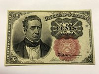 1874 10 Cents Fractional Currency Banknote CU #14361