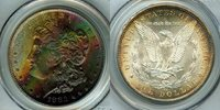 1883-CC Morgan Dollar MS64 PCGS Rainbow Color!