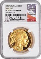2006 American $50 Buffalo NGC PR70 W/Michael Castle Signature