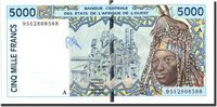 5000 Francs undated (1992-2003) West African States Banknote, Undated