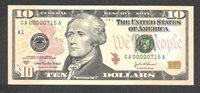 2004A $10 GA00000715A BIRTH MONTH/DAY MM/DD 7/15 JULY 15