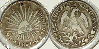 1831 Mexico 2 reales VG, Go, MJ