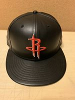 huge discount 16098 f0718 Houston Rockets 59fifty New Era cap NBA Faux Leather Fitted Hat New Size 7  1