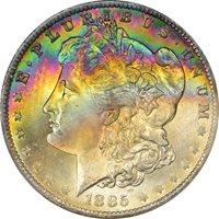 1885-O $1 Morgan Dollar PCGS MS66+