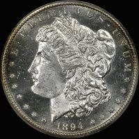 1894-S $1 MS64+ PCGS