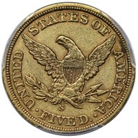 1857 S Liberty Half Eagle PCGS XF-40 CAC ON HOLD