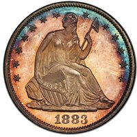 1883 50C Liberty Seated Half Dollar PCGS PR67CAM CAC