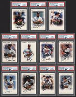 Lot # 183: 1996 Leaf Signature Baseball Autographed Complete Set with PSA Graded (252)