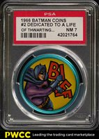 1966 Batman Coin Dedicated To A Life Of Thwarting The #2 PSA 7 NRMT (PWCC)