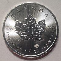 2016 Canada Silver $5 Maple Leaf Coin with Privy Mark BU Coin, 1 oz .9999 Fine