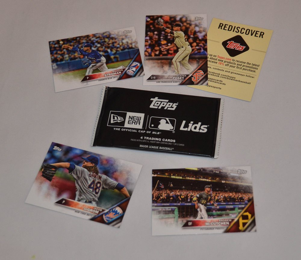 Topps New Era Lids Pack Of Baseball Cards Andrew Mccutchen Buster Posey Lot 4