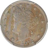 1912-S 5C Liberty Nickel PCGS XF45 CAC