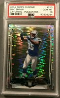 2014 Topps Chrome Eric Ebron #213 Pulsar Refractor RC Rookie PSA 10 Colts POP 2