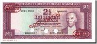 2 1/2 Lira 1930 Türkei Banknote, Specimen Tdlr, Km:153s