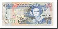 10 Dollars Osten Karibik Staaten Banknote, Undated (1985-93), Km:23a2