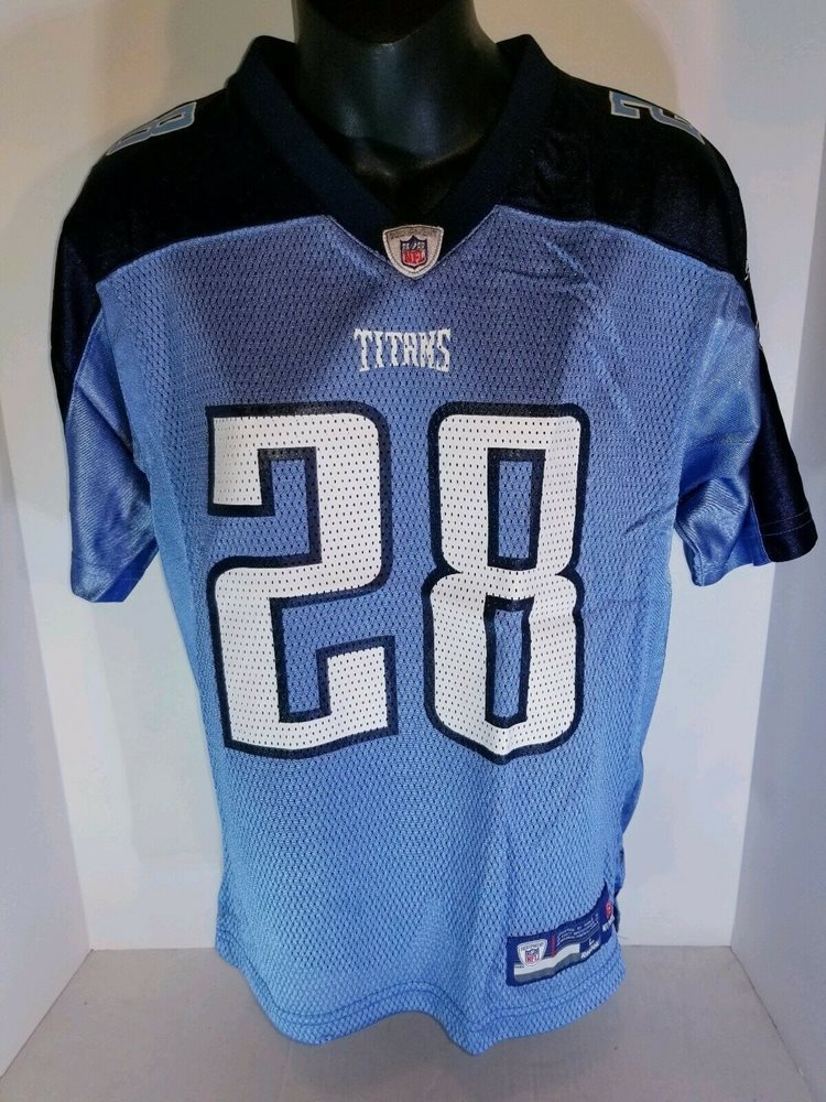 Tennessee Titans #28 Chris Johnson NFL Football Jersey Youth L NWOT REEBOK
