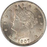 1907 5C Liberty Nickel PCGS MS65
