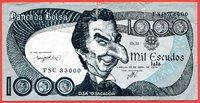 1000 Escudos satire Portuguesa Portugal Banco da Bolsa Mil Escudos Lisboa, 24 de Abril de 1974 Politische Satire Paper