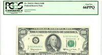 Fr 2163-G 1963A $100 Federal Reserve Note / PCGS 66 PPQ SUPERB Gem New