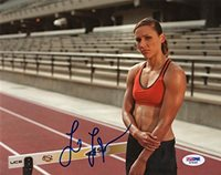 LOLO JONES SIGNED AUTOGRAPHED 8x10 PHOTO OLYMPIC TRACK & FIELD SUPERSTAR PSA/DNA