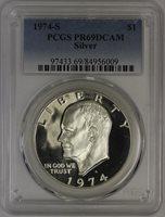 1974-S Eisenhower Dollar PCGS PR69DCAM PCGS Silver