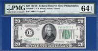 *VINSON* 1934B $20 Philadelphia Federal - PMG Choice Uncirculated CU 64EPQ - C2C