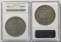 1892-S $1 Morgan Dollar ANACS EF 40