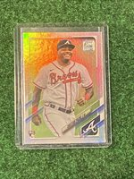 2021 Topps Series 1 CRISTIAN PACHE Rainbow FOIL Parallel RC BRAVES ROOKIE #187