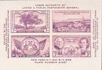 #778 – 1936 3c Third International Philatelic Exposition, souvenir sheet