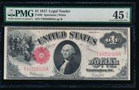 Fr. 39 1917 $1 Legal Tender PMG 45EPQ T49356926A